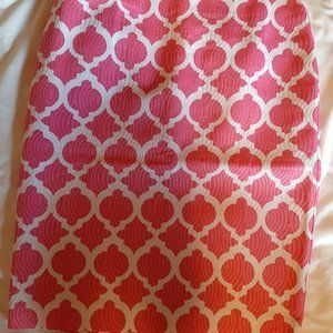 Talbots Pink and White Pencil Skirt
